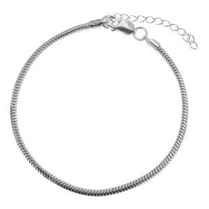 Bracelet maille*argent 925*HAND BASE CSTD 2,4 (18 + 4 cm)