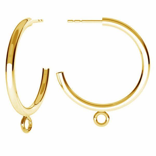 Rond boucles d'oreilles, argent 925, KL-240 KW 27x31 mm