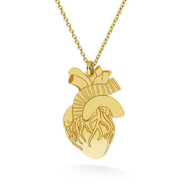 Cœur pendentif argent, LKM-2370 - 0,50 14x21,6 mm