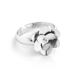 Rose bague*argent 925*U-RING ODL-00041