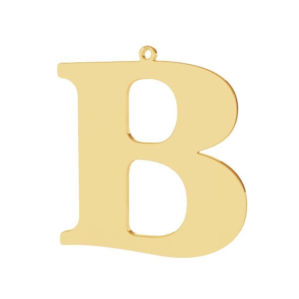 Pendentif - grande lettre B*argent 925*LKM-2489 - 0,60 36,7x38,4 mm
