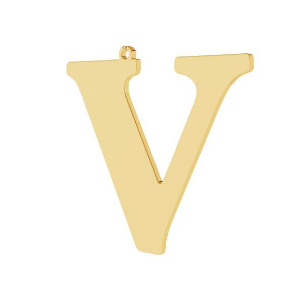 Pendentif - grande lettre V*argent 925*LKM-2509 - 0,60 38,2x39,9 mm