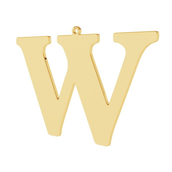 Pendentif - grande lettre W*argent 925*LKM-2510 - 0,60 38,4x58,3 mm