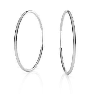Boucles d'oreilles créoles*argent 925*KL-350 1,5x50 mm