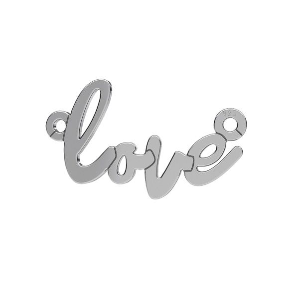 Love pendentif*argent 925*LKM-2397 - 0,50 10x18,7 mm