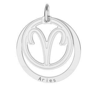 Taureau pendentif zodiaque, argent 925*LKM-2584 - 0,50 18x22 mm
