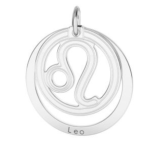 Lion pendentif zodiaque, argent 925*LKM-2587 - 0,50 18x22 mm