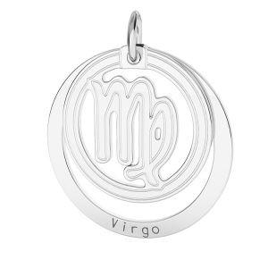 Vierge pendentif zodiaque, argent 925*LKM-2590 - 0,50 18x22 mm