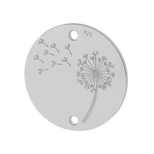 Pissenlit pendentif argent, LKM-2027