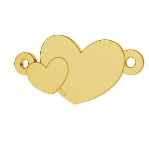 Cœur pendentif argent, LKM-2037
