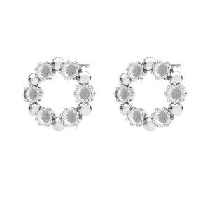 Boucles d'oreilles couronne en résine, argent 925, ODL-00704 KLS 14,2 mm (1088 PP 18)