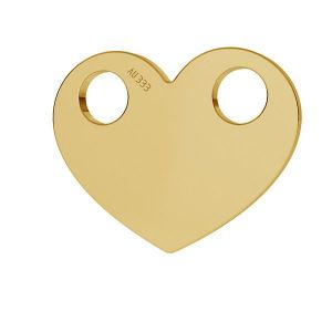 Cœur or pendentif*or 333*LKZ8K-30007 - 0,30 9,4x12 mm