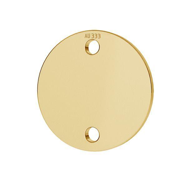 Étiquette ronde pendentif*or 585*LKZ8K-30014 - 0,30 10x10 mm