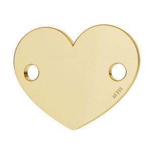 Cœur pendentif*or 333*LKZ8K-30018 - 0,30 10x12 mm