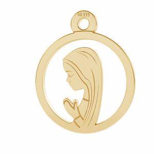 Notre médaillon de dame Fatima pendentif*or 333*LKZ8K-30021 - 0,30 10,5x12,9 mm