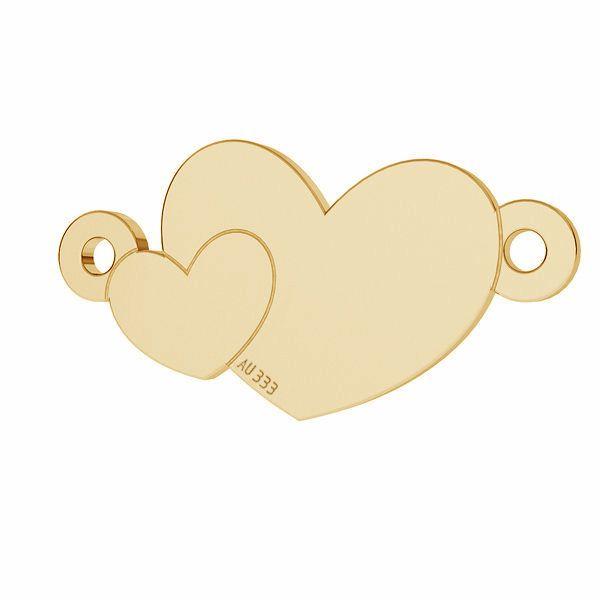 Cœur pendentif*or 333*LKZ8K-30022 - 0,30 8,7x17 mm