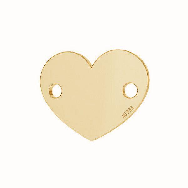Cœur pendentif*or 333*LKZ-30029 - 0,30 6x7,5 mm
