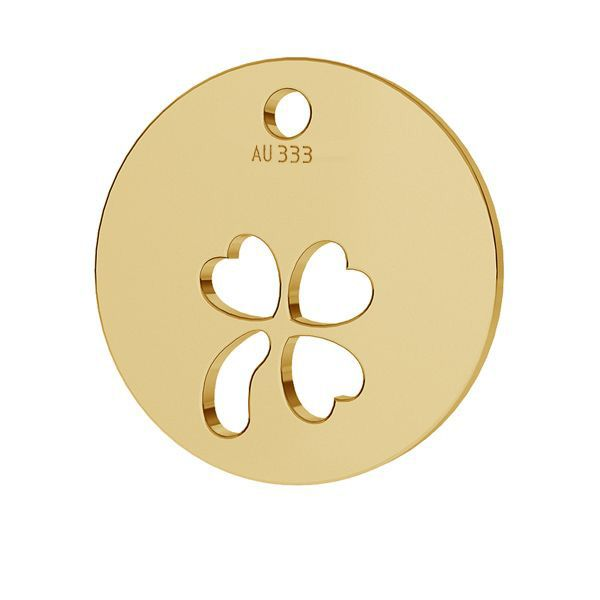 Trèfle pendentif*or 333*LKZ8K-30009 - 0,30 9,5x9,5 mm