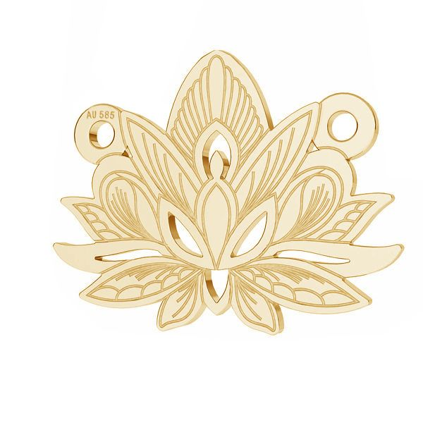 Lotus fleur pendentif*or 585*LKZ14K-50050 - 0,30 12,3x15,8 mm
