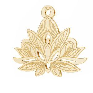 Lotus fleur pendentif*or 585*LKZ14K-50049 - 0,30 14,4x15,8 mm