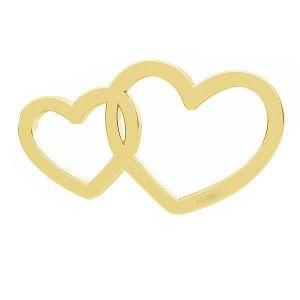 Coeurs doubles pendentif*or 333*LKZ8K-30030 - 0,30 6x10,5 mm