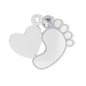 Pieds de bébé pendentif*argent 925*LKM-2646 - 0,50 13,2x16,5 mm