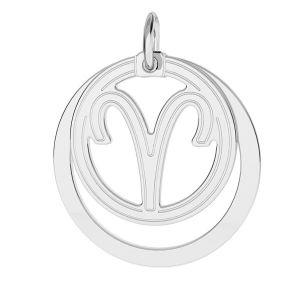 Bélier pendentif zodiaque, argent 925*LKM-2584 - 0,50 18x22 mm