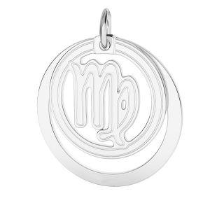 Vierge pendentif zodiaque, argent 925*LKM-2590 - 0,50 ver.2 18x22 mm