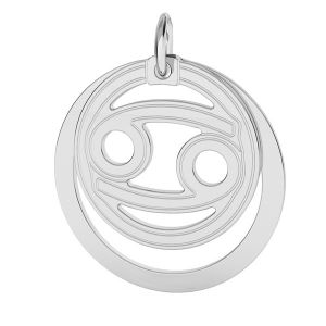 Cancer pendentif zodiaque, argent 925*LKM-2589 - 0,50 ver.2 18x22 mm