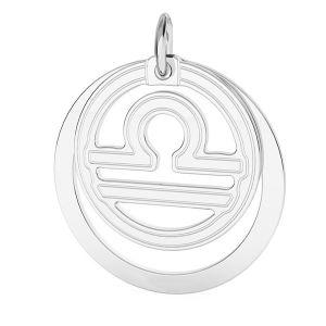 Balance pendentif zodiaque, argent 925*LKM-2594 - 0,50 ver.2 18x22 mm