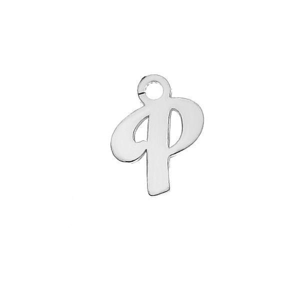 Lettre T pendentif*argent 925*LK-0076 - 0,50 5,1x9,5 mm