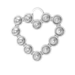 Cœur pendentif Swarovski perle, ODL-00789 24x24,5 mm (5818 MM 4)