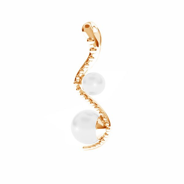 Seroent pendentif Swarovski perle, ODL-00774 4x22 mm ver.2