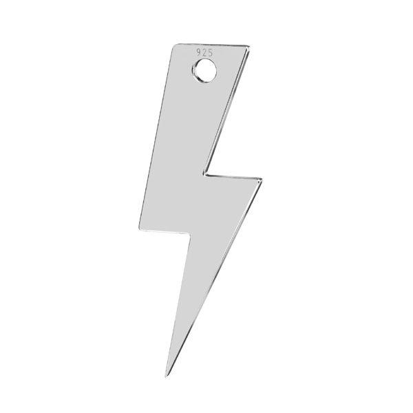 Foudre pendentif*argent 925*LKM-2827 - 0,50 7,9x21