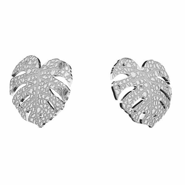 Feuille monstera Boucles d'oreilles KLS LKM-2760 - 0,50 10x11,2mm