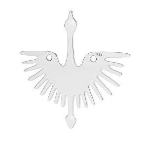Oiseaux pendentif argent, LKM-2824 - 0,50 25x25 mm