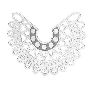Oiseaux pendentif argent, LKM-2837 - 0,50 19x25 mm