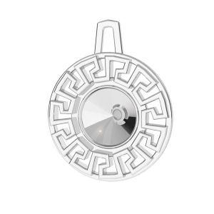 Labyrinthe grec pendentif Swarovski, ODL-00838 14x17,5 mm (1122 SS 29)