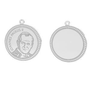 Le pape Jean-Paul II pendentif, LKM-2946 - 0,50 25x25,5 mm
