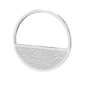 Rond pendentif argent, LKM-2745 - 0,50 18x18 mm