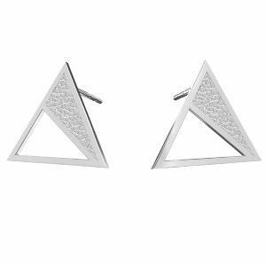 Triangle des boucles d'oreilles argent, KLS LKM-2750 - 0,50 11,3x13,1 mm