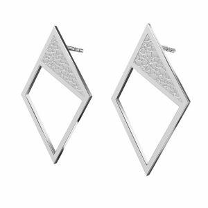 Rhombe des boucles d'oreilles argent, KLS LKM-2751 - 0,50 11x19,2 mm