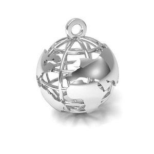 Lune pendentif argent 925, CON 1 E-PENDANT 660 18x22 mm