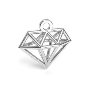 Diamant origami pendentif argent 925, CON 1 E-PENDANT 653 11,9x12,6 mm