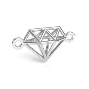 Diamant origami pendentif argent 925, CON 1 E-PENDANT 654 9,55x17,6 mm