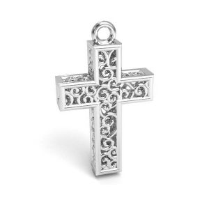 Crucifix pendentif argent 925, CON 1 E-PENDANT 657 11,8x19,8 mm