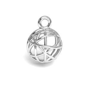 Hémisphère pendentif argent 925, CON 1 E-PENDANT 644 8,3x11,25 mm