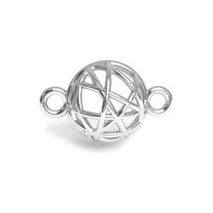 Hémisphère pendentif argent 925, CON 1 E-PENDANT 645 8,4x13,3 mm