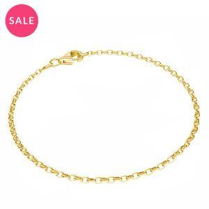 Bracelet rolo*argent 925*Round rolo bracelet*sterling silver 925*ROLO OVAL 0,35X0,60 17 cm