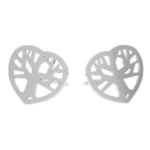 Arbre des boucles d'oreilles argent, KLS LKM-2958 - 0,50 10x12 mm